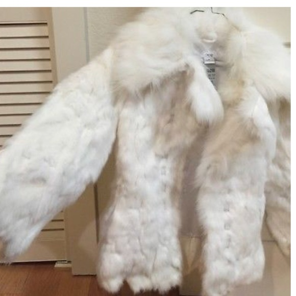 Cache Jackets & Blazers - Cache White Fur coat